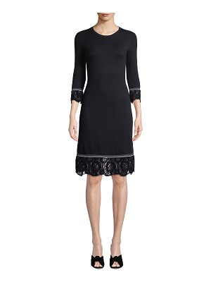 Tory Burch Coralie Lace-Trim Knit Dress