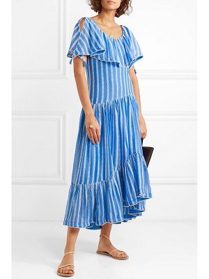 Tory Burch crochet-trimmed ruffled broderie anglaise cotton and silk-blend voile maxi dress