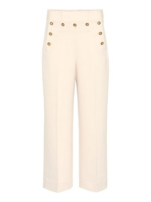 Tory Burch Cropped Sailor high-rise pants