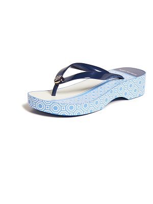 Tory Burch cutout wedge flip flops