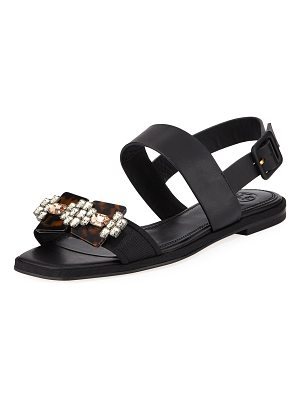 Tory Burch Delaney Embellished Leather Sandal