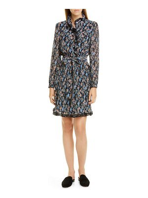 Tory Burch deneuve floral long sleeve dress