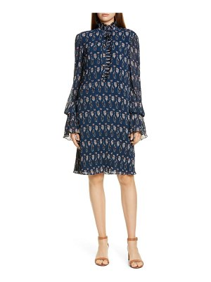 Tory Burch deneuve floral print long sleeve shift dress