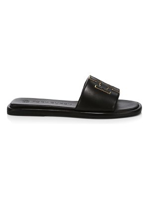 Tory Burch double-t padded leather slides