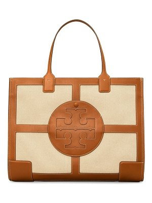 Tory Burch ella leather-trimmed canvas tote