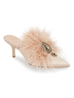 Tory Burch elodie embellished feather mule