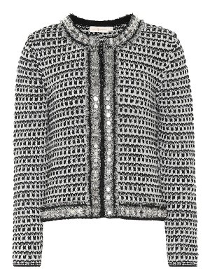 Tory Burch Embellished tweed cardigan
