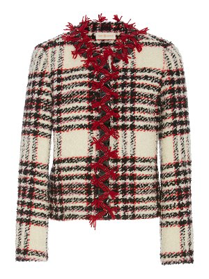 Tory Burch embroidered boucle tweed jacket