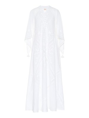Tory Burch Embroidered cotton maxi dress