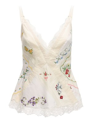 Tory Burch Embroidered silk lace & cotton top