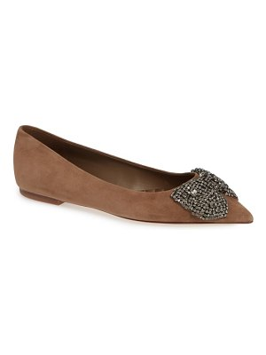 Tory Burch esme crystal bow flat