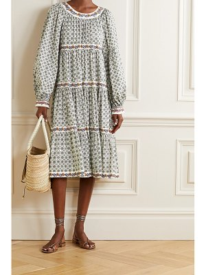 Tory Burch filippa tiered printed cotton-voile dress