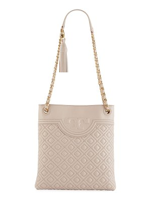 Tory Burch Fleming Diamond-Quilted Swing-Pack Tote Bag - Golden Hardware