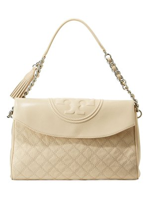 Tory Burch Fleming Distressed Leather Hobo Bag