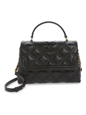 Tory Burch fleming top handle quilted leather satchel