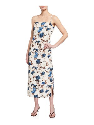 Tory Burch Floral-Print Strappy-Back Dress