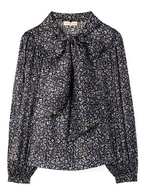 Tory Burch floral print tie neck silk blouse