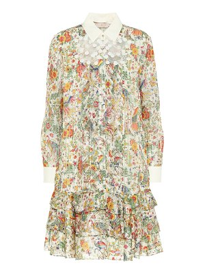 Tory Burch floral silk-blend minidress