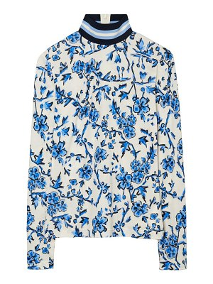 Tory Burch floral turtleneck