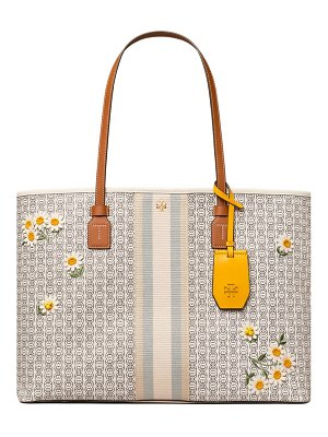 Tory Burch gemini link applique coated canvas tote