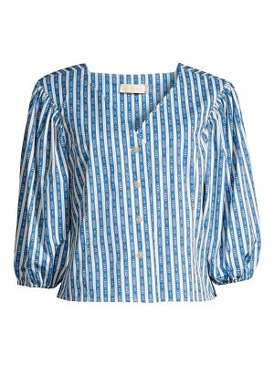 Tory Burch gemini link striped blouse