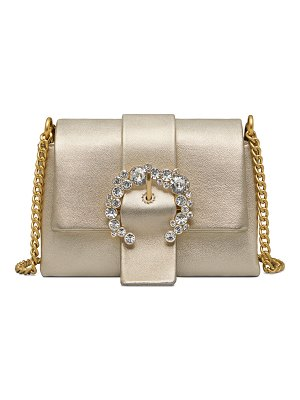 Tory Burch Greer Mini Metallic Leather Crossbody Bag