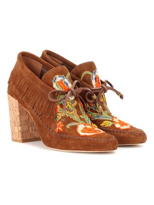 Tory Burch Huntington fringe suede booties
