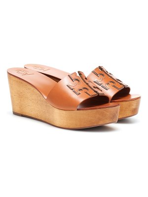 Tory Burch ines 80mm leather wedge sandals