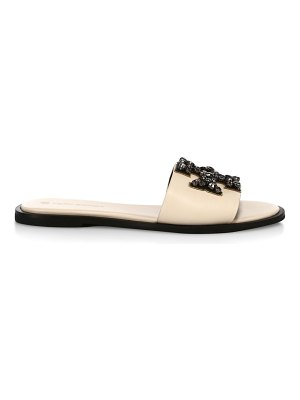 Tory Burch ines embellished leather slides