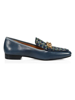 Tory Burch jessa print & leather loafers