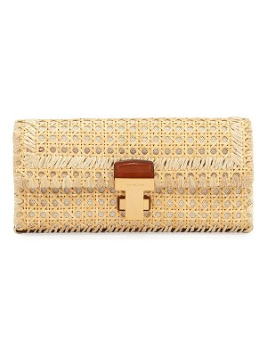 Tory Burch Juliette Rattan Clutch Bag