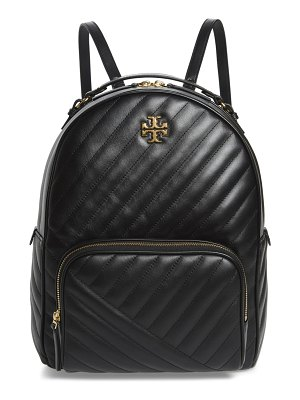 Tory Burch kira channel quilted lambskin leather backpack