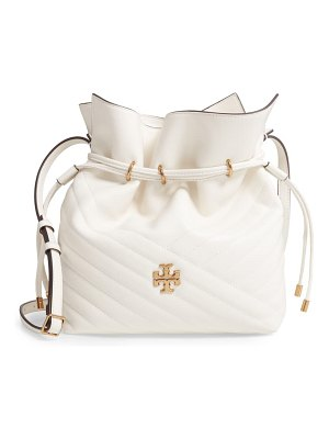 Tory Burch kira chevron quilted leather bucket bag