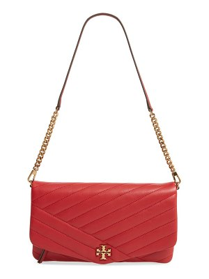 Tory Burch kira chevron quilted leather clutch