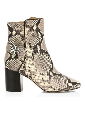 Tory Burch kira snakeskin-embossed leather ankle boots