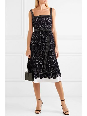 Tory Burch kristen flocked lace and cotton dress