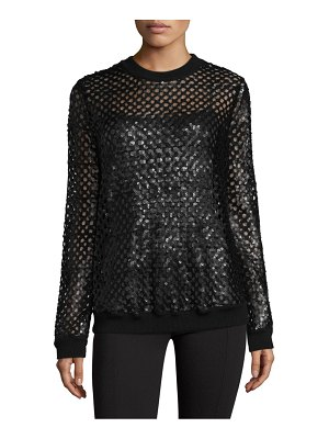 Tory Burch Lansing Sequined Wool Sweater