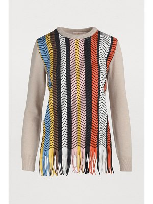 Tory Burch Leather-detail sweater