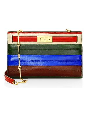 Tory Burch lee radziwell patchwork eel leather shoulder bag