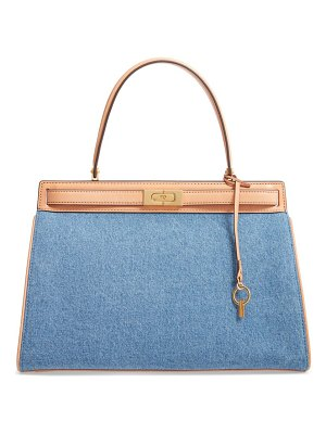Tory Burch lee radziwill denim & leather satchel