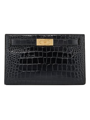 Tory Burch Lee Radziwill Embossed Clutch Bag
