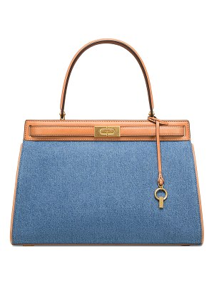 Tory Burch Lee Radziwill Large Denim Tote Bag