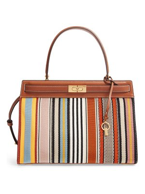 Tory Burch lee radziwill patchwork webbing & leather bag
