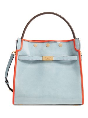 Tory Burch lee radziwill satchel with raincoat bag cover