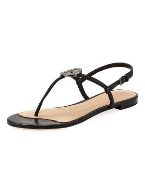 Tory Burch Liana Flat Embellished Thong Sandals