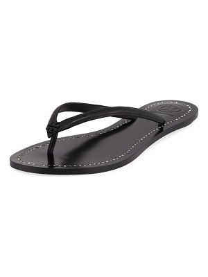 Tory Burch Liana Flat Leather Thong Sandals