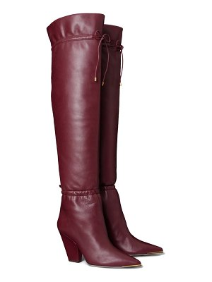 Tory Burch lila over the knee scrunch boot