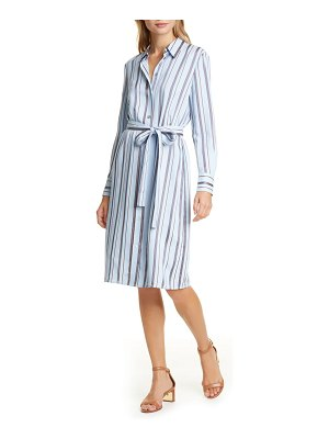 Tory Burch long sleeve stripe shirtdress