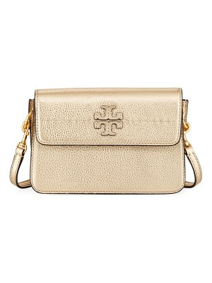Tory Burch McGraw Metallic Leather Crossbody Bag