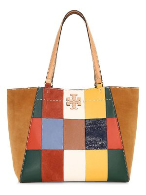Tory Burch mcgraw patchwork leather tote